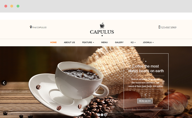 Capulus - Multipurpose Coffee Style Joomla template