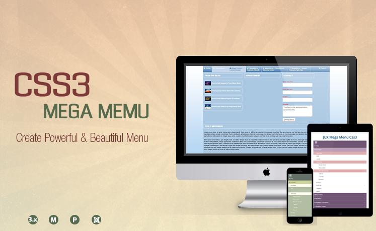 jux-css3-mega-menu