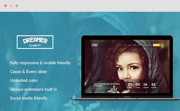 Dreamer - Multipurpose Charity Joomla Template