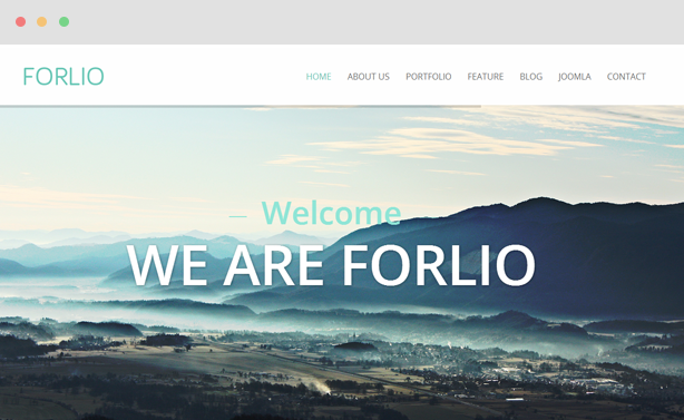 Forlio - Corporate & Portfolio Joomla Template