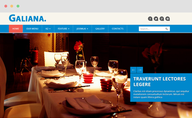 Galiana - Restaurant Joomla 3 Template