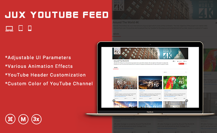 JUX YouTube Feed - Responsive Joomla Extensions