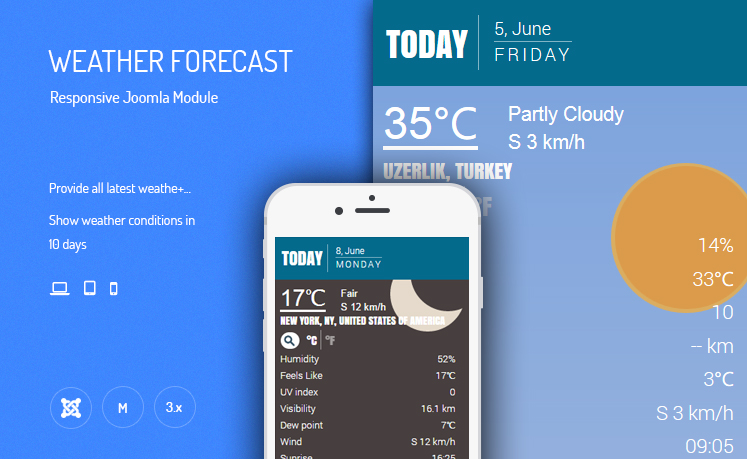 JUX Weather Forecast - Responsive Joomla Module