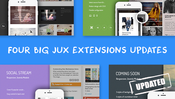 [NEW UPDATES] Four Big Updates On Joomla Extensions