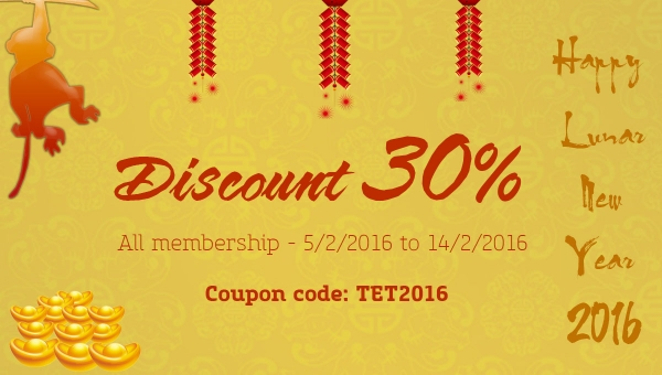 [Promotion] Happy Lunar New Year 2016 with 30% DISCOUNT from JoomlaUX