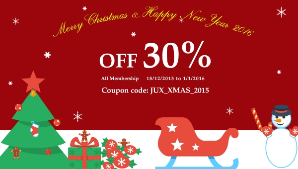 [Promotion] 30% Discount for All Membership plans on Christmas Day