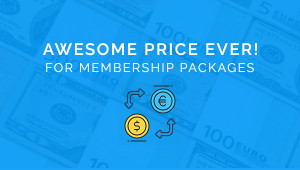 Change the Currency  - Awesome Price for Membership Packages!