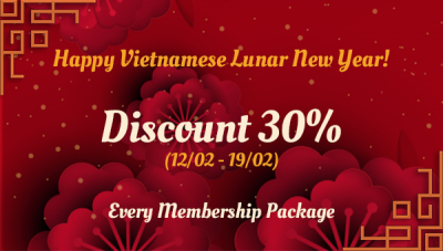 Happy Vietnamese Lunar New Year with Discount 30%