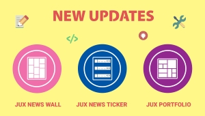 New updates on JUX 3 most popular products - News Wall - News Ticker - Portfolio