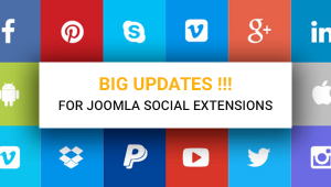 Big Updates for Joomla Social Extensions