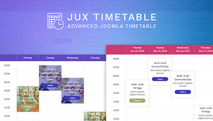 JUX Timetable - Advanced Joomla Timetable with Amazing Features