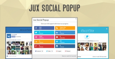 [New Release] JUX Social Popup - easily increase follower for your social site