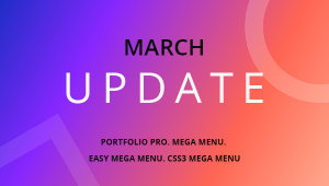 March Updates: Joomla Mega Menu, Background Video, and Portfolio Pro Updated