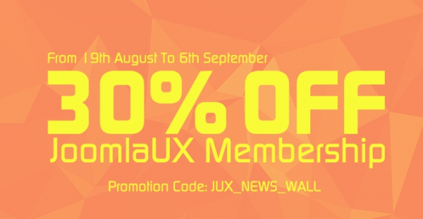JUX News Wall came along with huge promotion