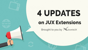 [UPDATE] Four New Updates On JoomlaUX Extensions