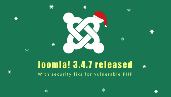 [Joomla News] Joomla! 3.4.7 Released