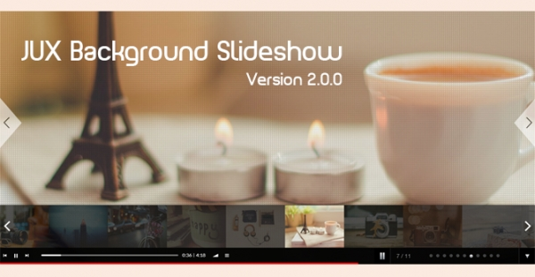 [New Update] – JUX Background Slideshow-version 2.0.0