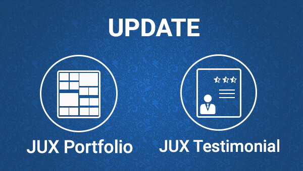 Updated Versions on JUX Portfolio and JUX Testimonial