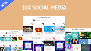 [NEW RELEASE] JUX Social Media – beautiful display feeds on your social site